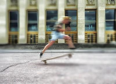 Skateboarder in France
