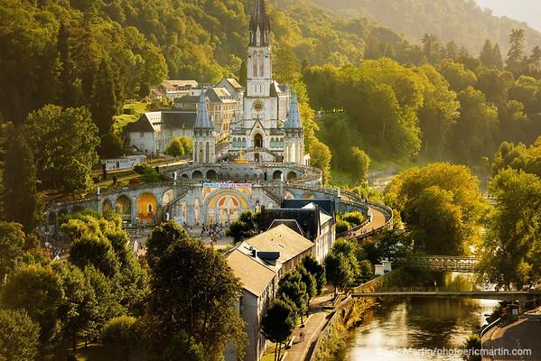 LOURDES. Reportage réalisé pendant le Pèlerinage National du 13 au 19 août 2019. Sanctuaire Notre-Dame de Lourdes