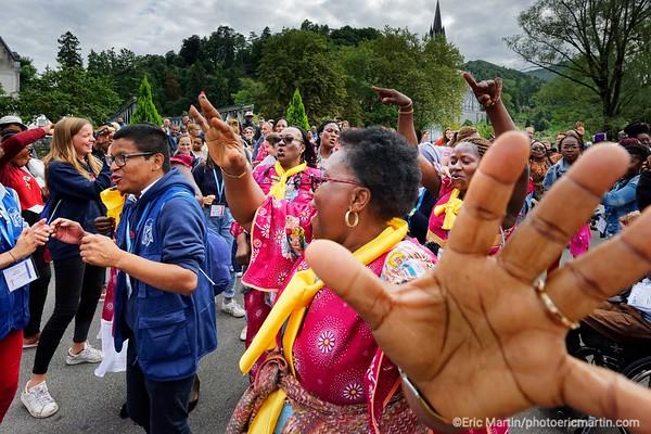 LOURDES. Reportage réalisé pendant le Pèlerinage National du 13 au 19 août 2019. Sanctuaire Notre-Dame de Lourdes.