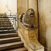 Lion, the symbol of the city, at entry to Cathedral of Arles.