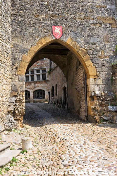 Entrance to medieval walled village of Perouges.