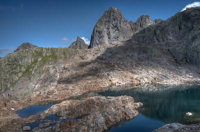 Between Planpraz, black lakes (Lacs noirs) and the Index. Black lake.