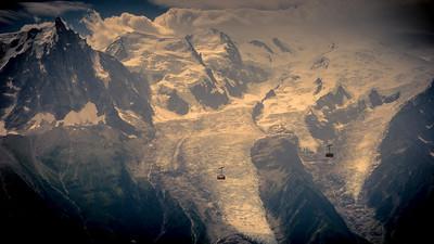 """""""l'Aiguille du Midi"""" seen from """"le Brévent"""" area"""