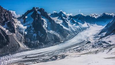 """Argentière glacier seen from """"les Grands Montets"""""""