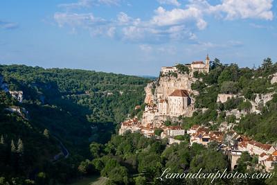 Rocamadour vu depuis le Promontoire