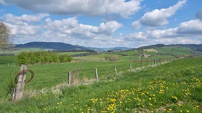 """Cublize / Ronno randonnée avril 2017 - 45°59'37"""" N 4°22'49"""" E - 537,3m (Ronno - Auvergne-Rhône-Alpes)"""