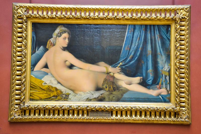 La Grande Odalisque by Jean Auguste Dominique Ingres, 1814<br /> Musée du Louvre<br /> Paris