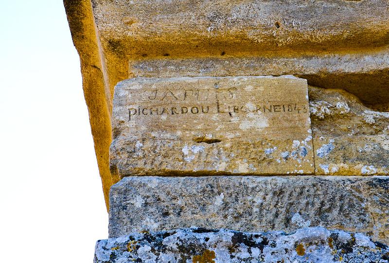 """Ancient """"Graffiti""""<br /> Pont du Gard<br /> Vers-Pont-du-Gard, Gard"""