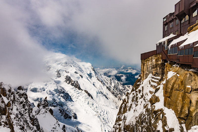 View from the lower Platform, Aiguille du midi