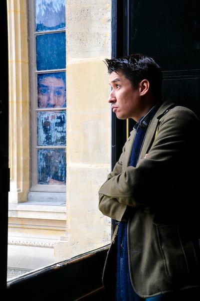 Reflection<br /> Musée du Louvre<br /> Paris
