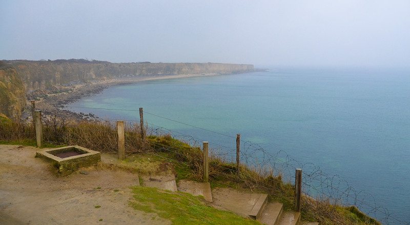 Pointe du Hoc<br /> Normandy<br /> <br /> Pointe du Hoc is a promontory with a 100 ft cliff overlooking the English Channel on the coast of Normandy in northern France.  During World War II it was the highest point between Utah Beach to the west and Omaha Beach to the east.