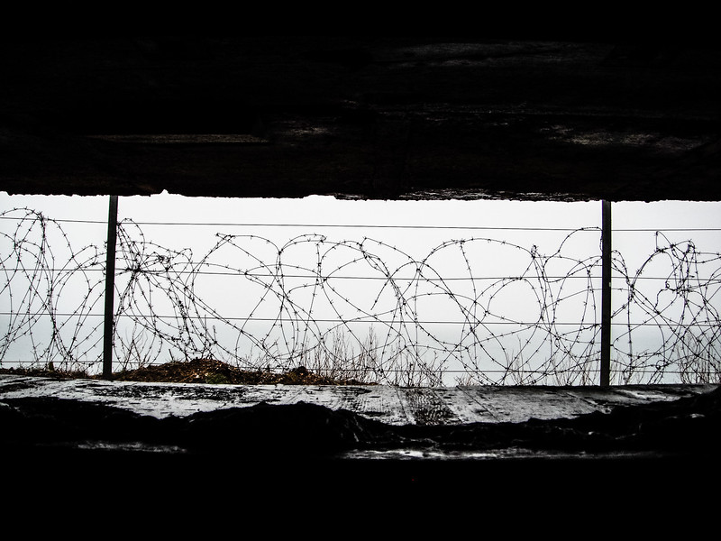 View from German Bunker at Pointe du Hoc<br /> Normandy