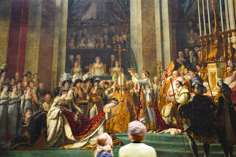 The Coronation of Napoleon by Jacques-Louis David, 1807<br /> Musée du Louvre<br /> Paris