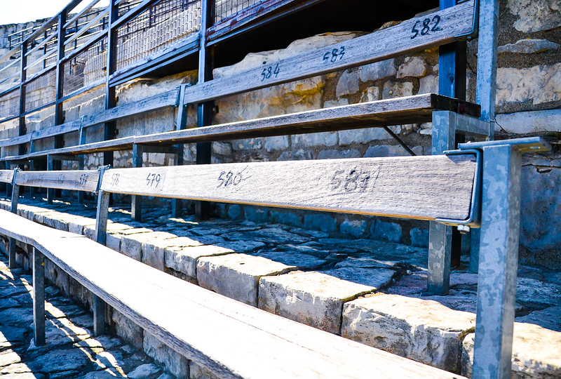 Seat Numbers<br /> The Arena of Nîmes<br /> Roman Amphitheatre (built around 70 AD)<br /> Languedoc-Roussillon Region, South France