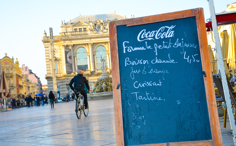 Place de la Comédie in Montpellier<br /> Languedoc-Roussillon Region, South France