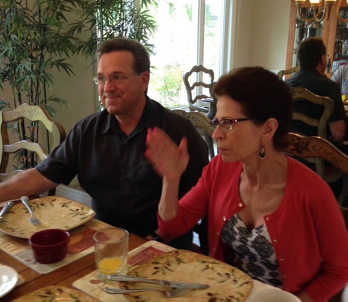 Frank and Phylis Kosdosky visit at the Cotton's on May 1, 2016
