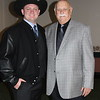 Luke Libby, 2011 Defensive Lineman Winner and a Selection Committee Member w Pete DeSimon, President  Board of Directors