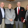 Charlie Hews, Selection Commitee Member, Pete DeSimon, President , Bobby Hews, Key Note Speaker, Pete Cloutier, Selection Committee Member