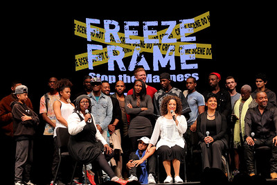 FREEZE FRAME…Stop the Madness gives audiences an inward look into the challenging experiences of young, disenfranchised African Americans and Latinos growing up in the inner city challenged with education, religion, police, gangs, and trying to make a l