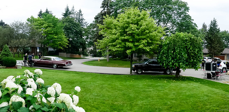 Front lawn at 51 Abilene Drive, Etobicoke -  about to start the day's shoot.