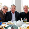 "Peter B (L) our ""Lunch Founder"" and convener for 40 Years with Mike W and Dave T"