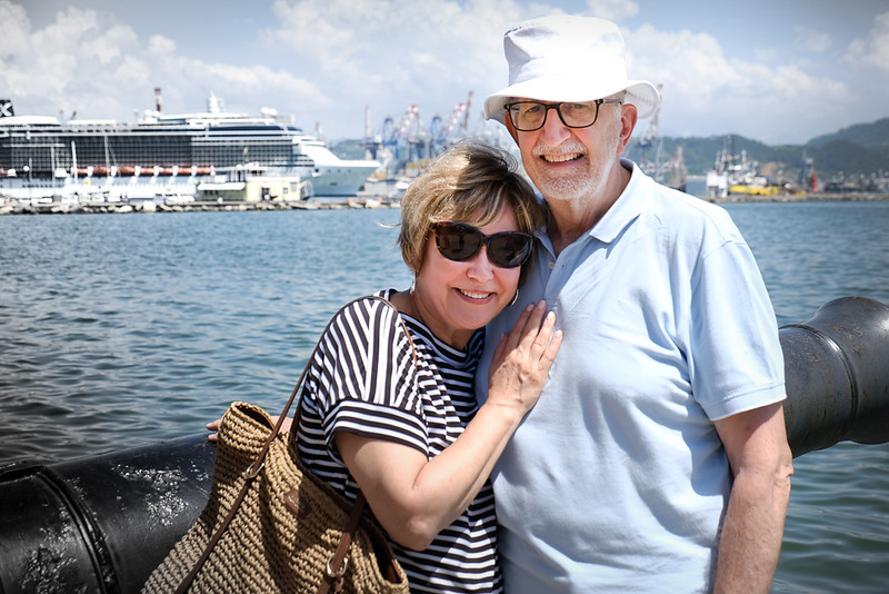 Liz and John S cruising in the Med 2018