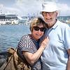 Liz and John S cruising in the Med 2018