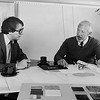 John S (L) with partner Jack Winston of JW Designs, reviewing one of many corporate and residential Interior Design and Project Management jobs that Winston Stevenson Associates had underway.  In 1983 I established John Stevenson Interiors, concentrating on Design/Build of Corporate Interiors for the next 23 years