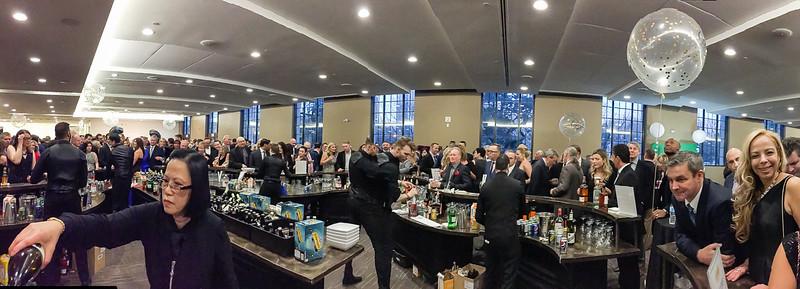 Open Bar - it got even busier as evening continued!