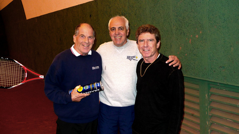 LOU MONTE VINNY ACCOLLA PAUL GALLOWICH...THIS IS THE LEVEL OF TENNIS YOU DREAM ABOUT...NICE PEOPLE TOO.<br /> I WAS THE ONLY ONE AROUND TO PLAY SO THEY CALLED ME..