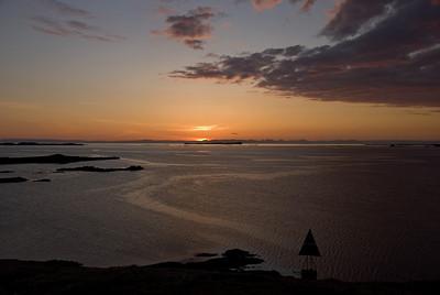 Sólarlag á Breiðarfirði