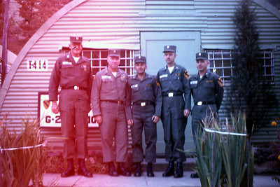 Officers of the G-2 Section. Frank is 2nd from the left.