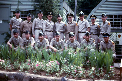 G-2 Section, 1st US Cavalry Division, June 1963. Frank is standing, 4th from the right.