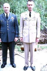 Frank S. Farmer (left) and another officer