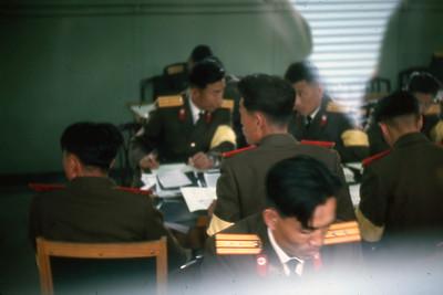 North Korean negotiators at Panmunjom