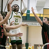 Fitchburg State University basketball played Clark University on Wednesday night, Nov. 13, 2019. FSU's #21 Tayjaun McKenzie. SENTINEL & ENTERPRISE/JOHN LOVE