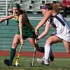 Fitchburg State University women's field hockey played Eastern Connecticut State on Saturday, Nov. 2, 2019. FSU's #2 Sarah Craig and ECS's #14 Alyson Sanford. SENTINEL & ENTERPRISE/JOHN LOVE