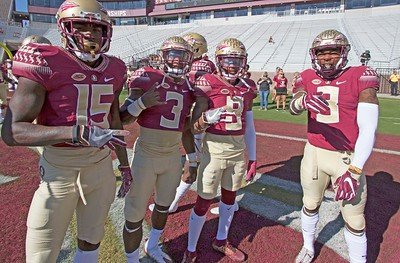 Tammorion Terry, Cam Akers, Nyquan Murray and Derwin James