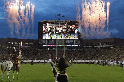 September 3, 2018.  Virginia Tech @ Florida State.  Doak Campbell Stadium in Tallahassee, Florida, USA (Credit Image: Ken Lanese)