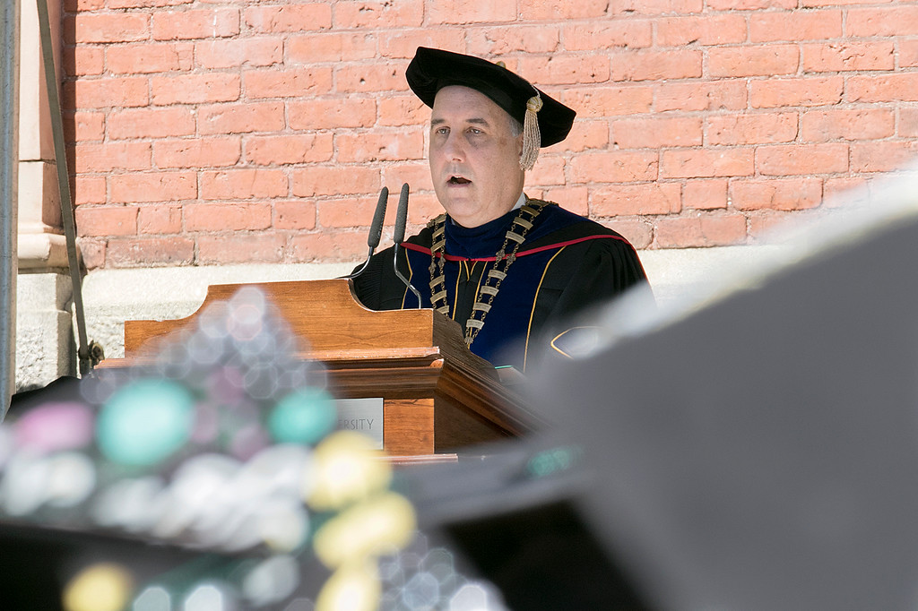 . The 123rd Commencement ceremony for Undergraduates was held at Fitchburg State University on Saturday, May 18, 2019. FSU President Dr. Richard Lapidus addressed the graduates during the ceremony. SENTINEL & ENTERPRISE/JOHN LOVE