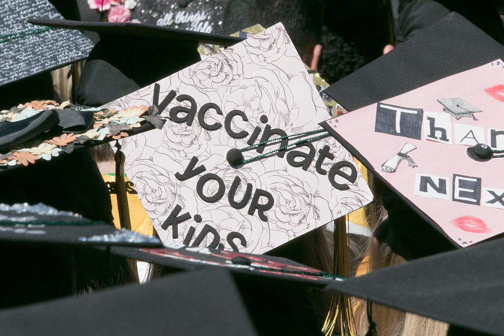. The 123rd Commencement ceremony for Undergraduates was held at Fitchburg State University on Saturday, May 18, 2019. One of the many decorated mortar boards at the ceremony. SENTINEL & ENTERPRISE/JOHN LOVE