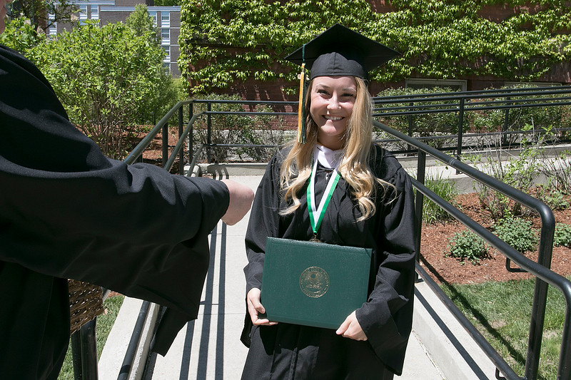 The 123rd Commencement ceremony for Undergraduates was held at Fitchburg State University on Saturday, May 18, 2019. Graduate Jerrika St. John of Gardner was all smiles after getting her diploma. SENTINEL & ENTERPRISE/JOHN LOVE
