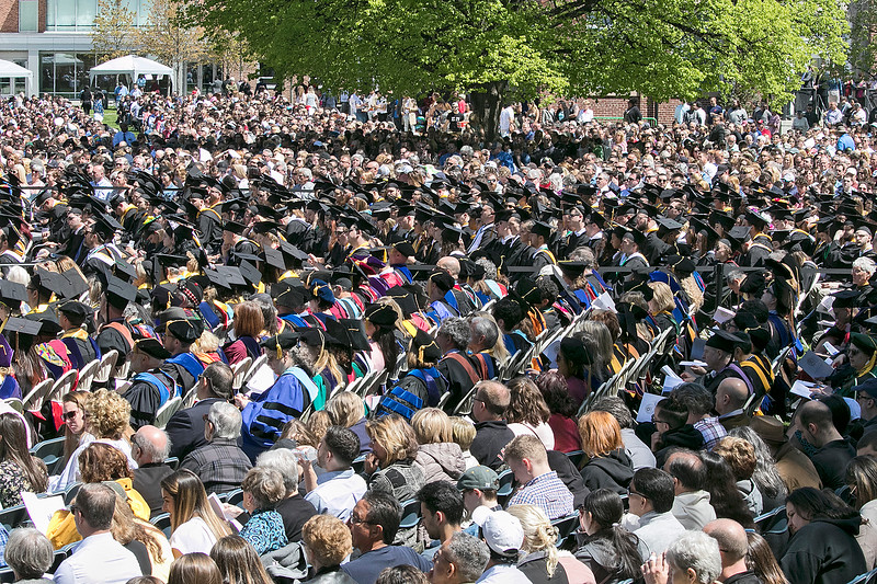 The 123rd Commencement ceremony for Undergraduates was held at Fitchburg State University on Saturday, May 18, 2019. Their was a sea of family, friends, FSU faculty and graduates on the quad for the ceremony. SENTINEL & ENTERPRISE/JOHN LOVE