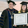 The 123rd Commencement ceremony for Undergraduates was held at Fitchburg State University on Saturday, May 18, 2019. FSU President Dr. Richard Lapidus presented Hailey O'Brien the Dr. Robert V. and Jeanne S. Antuonucci Student Leadership Award during the ceremony. SENTINEL & ENTERPRISE/JOHN LOVE