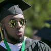 The 123rd Commencement ceremony for Undergraduates was held at Fitchburg State University on Saturday, May 18, 2019. Denzel Weatherspoon from Leominster was ready for the ceremony to start. SENTINEL & ENTERPRISE/JOHN LOVE