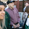The 123rd Commencement ceremony for Undergraduates was held at Fitchburg State University on Saturday, May 18, 2019. Veteran Herbert Racine of Shirley watches the graduates parade onto the quad for the ceremony. He was their to see his grandson Ryan Cooper of Shirley graduate. SENTINEL & ENTERPRISE/JOHN LOVE