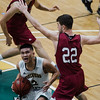 Fitchburg State's Brandon Guerrero in action during the game against MIT on Saturday, December 9, 2017. SENTINEL & ENTERPRISE / Ashley Green
