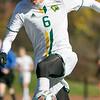 Fitchburg State University mens soccer played Salem State on Saturday, Nov. 2, 2019. FSU's #6 Alexander Loyd. SENTINEL & ENTERPRISE/JOHN LOVE