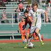 Fitchburg State University mens soccer played Salem State on Saturday, Nov. 2, 2019. FSU's #8 Stephen Nagle. SENTINEL & ENTERPRISE/JOHN LOVE