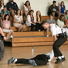 Fitchburg State Police Academy at the McKay building, July 20, 2019.  They had a family orientation day to let the family's of the cadets in on what is going on during their training. Family members of the cadets watch them during training in the gym of the McKay building. SENTINEL & ENTERPRISE/JOHN LOVE